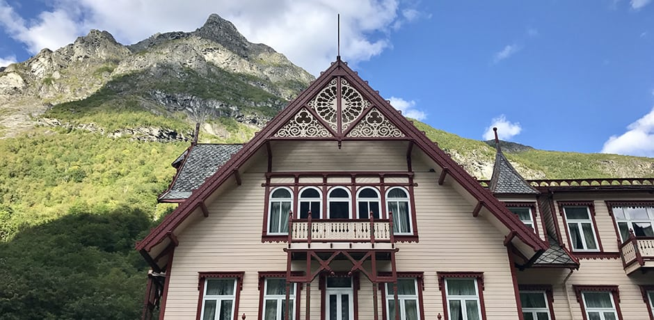 Located in a remote valley in the Sunnmøre Alps, the old-fashioned Hotel Union Øye dates to 1891 and staying here feels like stepping back in time