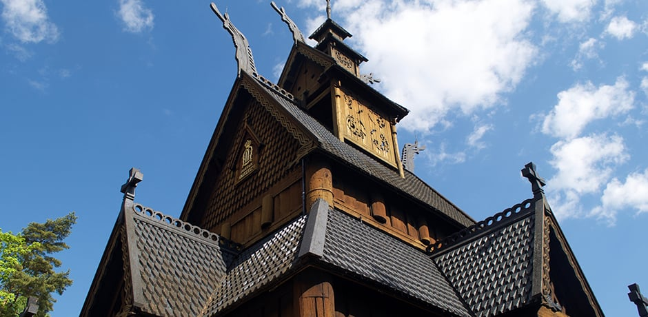 Gol Stave Church at Norwegian Museum of Cultural History, which dates back to 1866 and is still used for weddings.