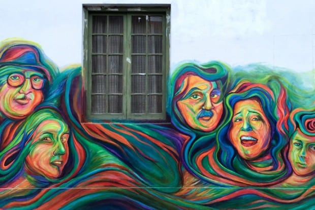 Some of the gorgeous street art of Barranco, Lima.