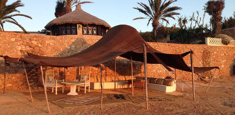 Guests of La Sultana Oualidia may enjoy private dinner on the beach set up under a traditional  Berber tent.