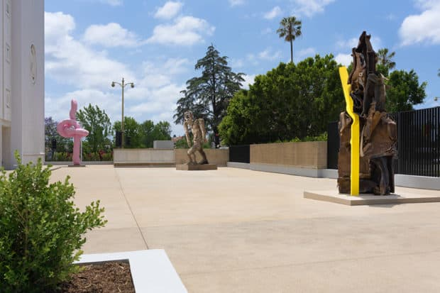 The Marciano Art Foundation courtyard.