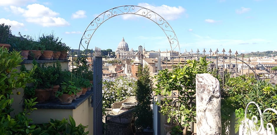Some of the best views of Rome from an apartment in a private palazzo