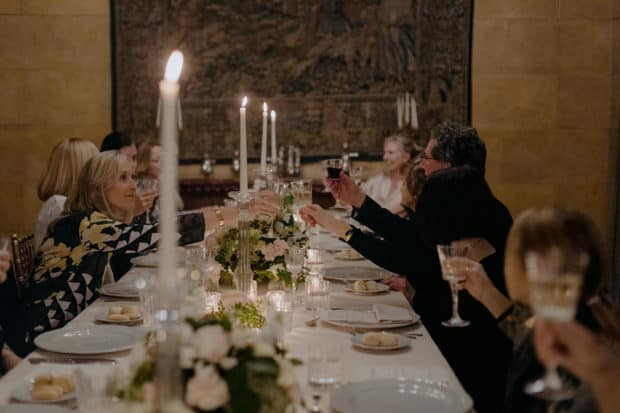 Trip attendees at a private dinner in a historic villa on the 2019 Insider Journey to Milan with WSJ. Magazine