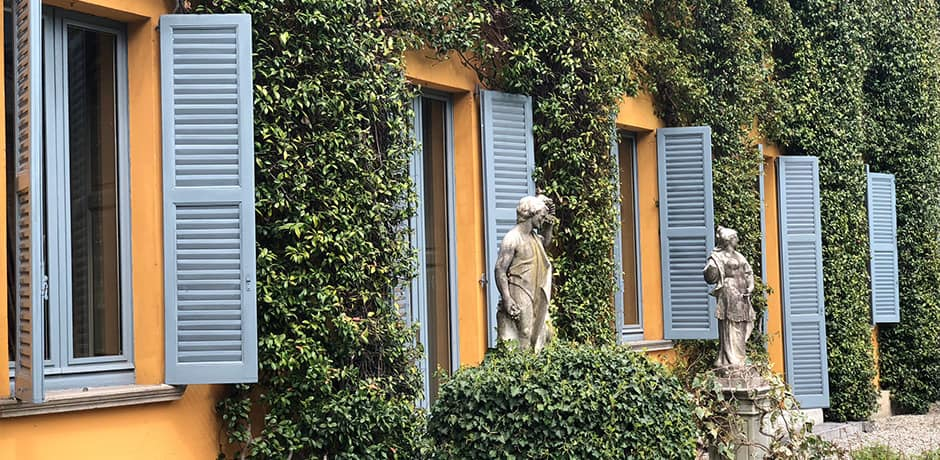 Descendants of the Erba family still reside in the Villa Erba Antica, which was also where director Luchino Visconti spent many summers on Lake Como.