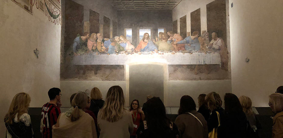 We viewed Leonardo da Vicini's masterpiece before having a private breakfast at the house where he lived when he painted The Last Supper.
