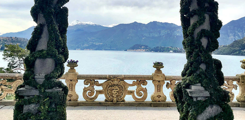 We arrived to the Villa Balbianello by boat to find the gardens coming into bloom and snow still visible on the distant Dolomites.