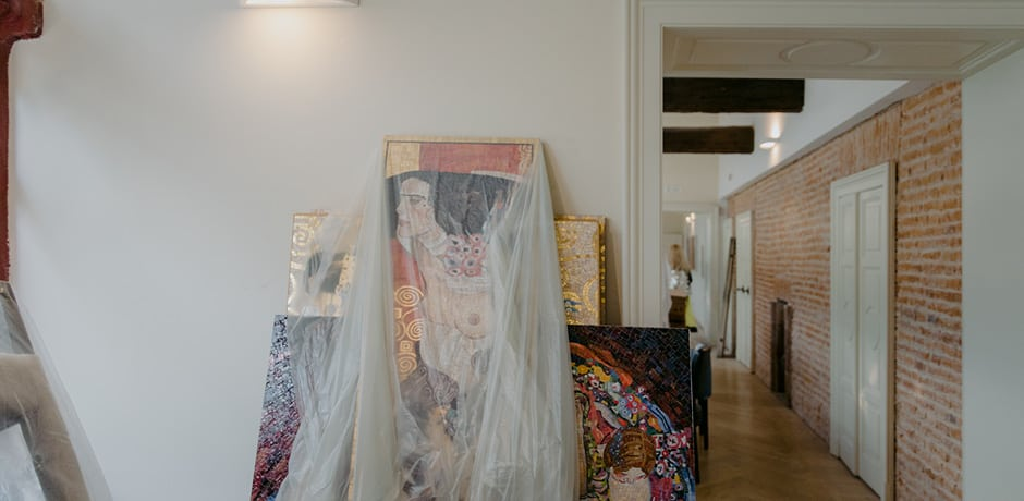 A sneak peek at the ever-growing art collection of the Galleria Vik Milano hotel.