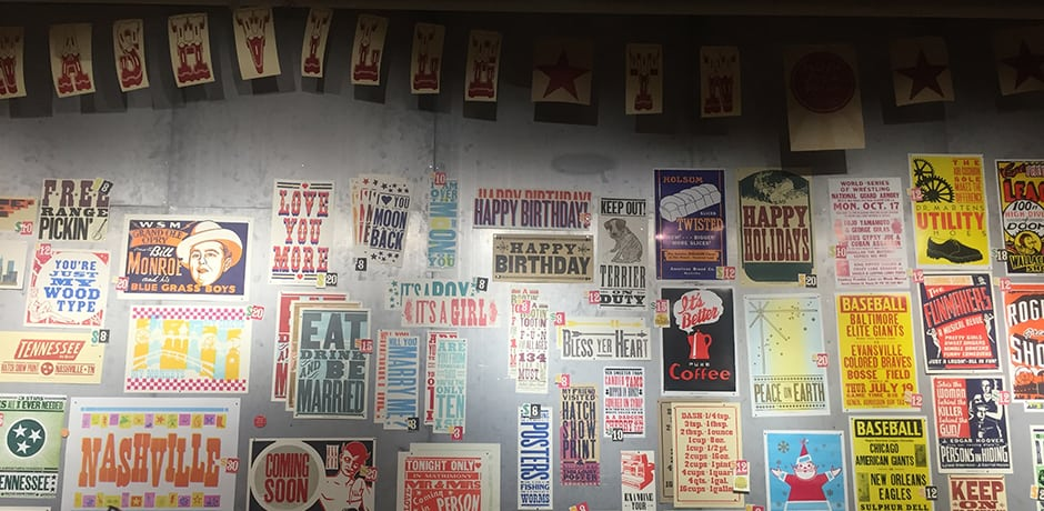The famed Hatch Show Print Shop, which has been creating concert posters for local legends since 1879