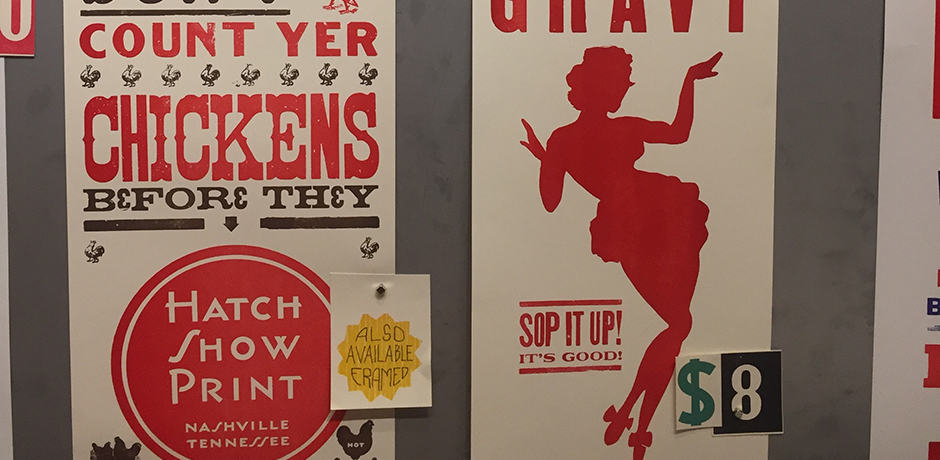 Details at the Hatch Show Print Shop