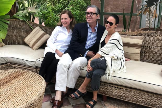 AD Decorative Arts Editor and Insider Journey host Mitchell Owens with Indagare members on the Insider Journey to Marrakech in 2018.