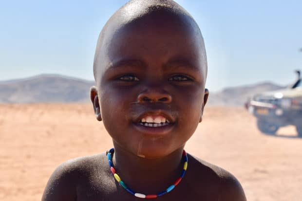 A future leader of the Himba tribe