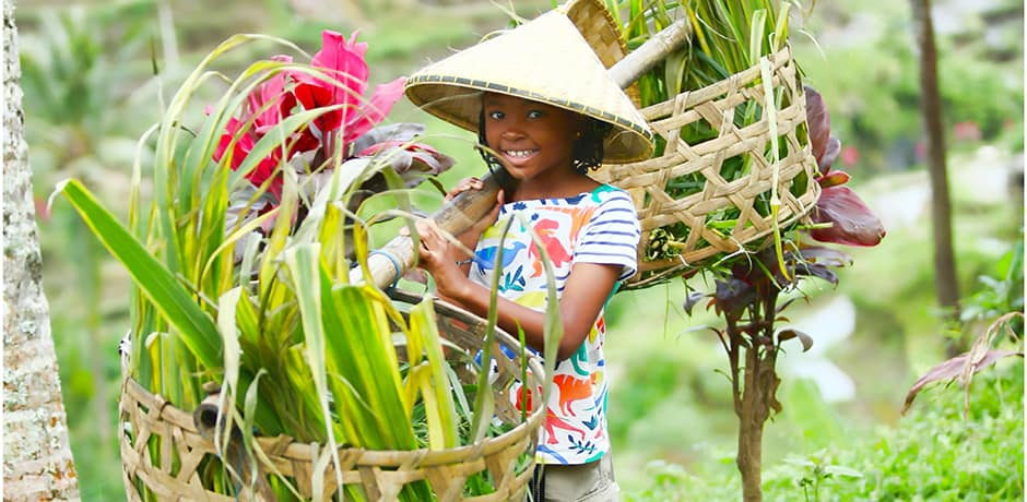 Indagare member Dominick Walker's epic trip to Bali, which included a visit to the stunning Tegalalang Rice Terrace in Ubud (his daughter is pictured here), a surfing lesson, and a spa treatment at the peaceful Four Seasons Jimbaran Bay.