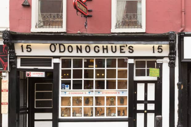 O'Donoghue's is one of the oldest pubs in Dublin.