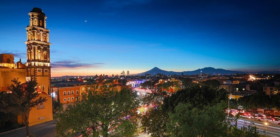 Puebla, as seen from the Rosewood Puebla's rooftop