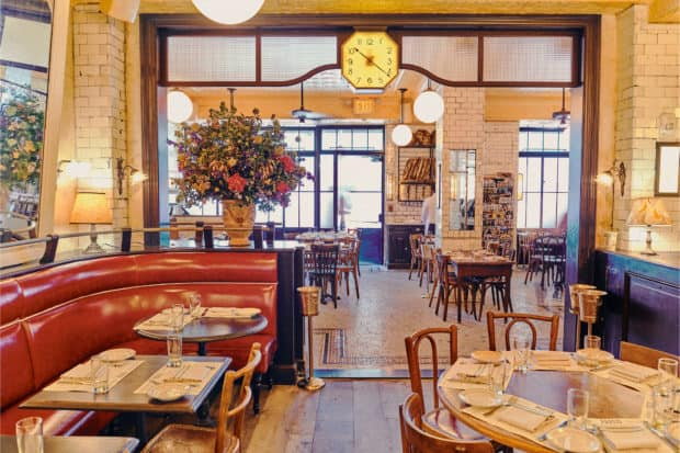 The interior of Pastis in Meatpacking. Photo by Louise Palmberg.