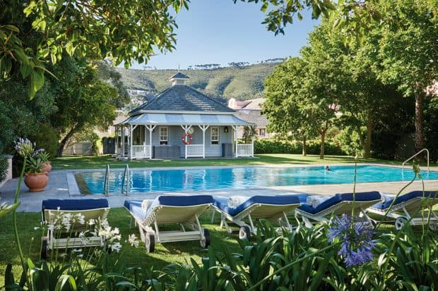 The outdoor pool at Belmond Mount Nelson (courtesy Mark Williams)