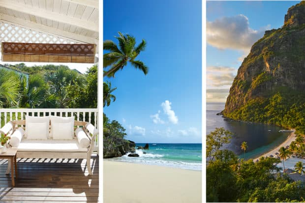 From left: Parrot Cay, Amanera and Sugar Beach are some of the most romantic hotels with unparalled beaches