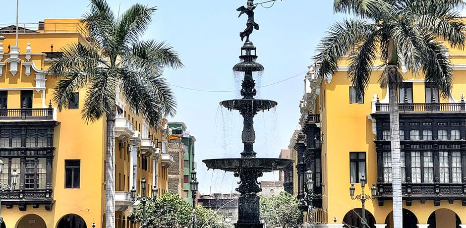Lima's historic center, which was declared a UNESCO World Heritage Site in 1988