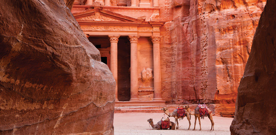 The ancient city of Petra dates back to the second century B.C. Courtesy Jordan Tourism Board.