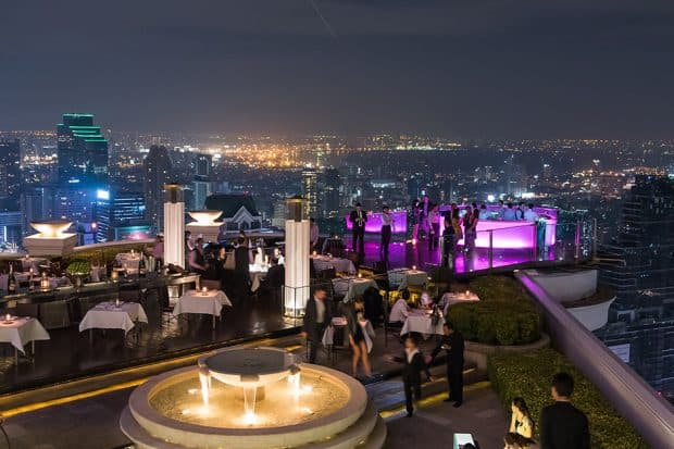Sky Bar on rooftop in Bangkok