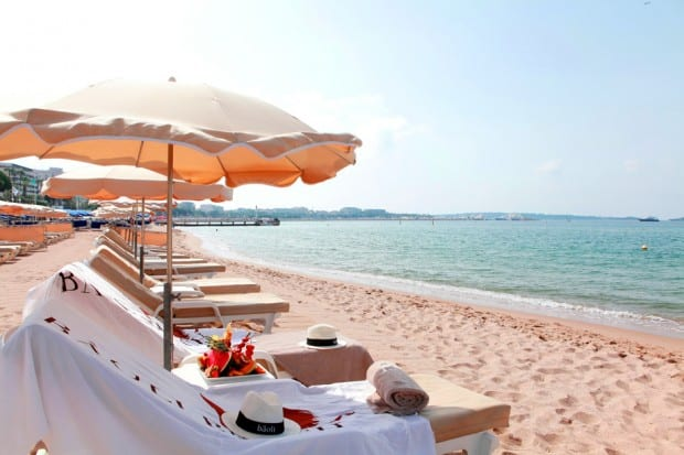 Sea Lounge at Bâoli Beach, Cannes, France
