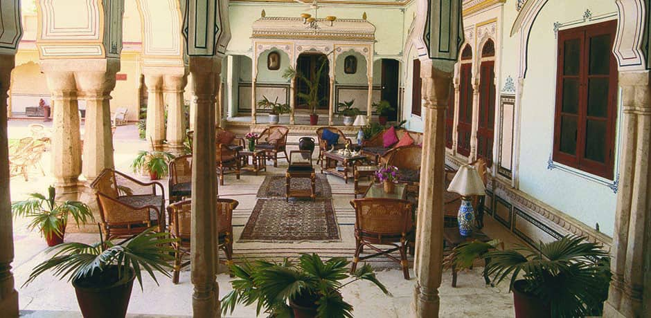 Restaurant at the Samode Palace Hotel in Jaipur