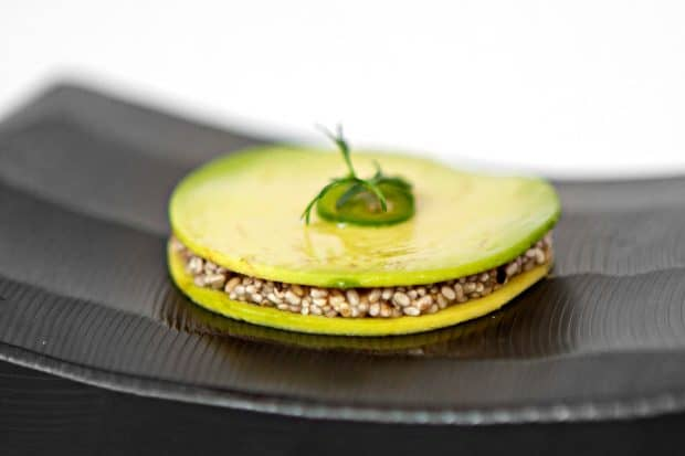 An avocado appetizer at PUjol in Mexico City. Courtesy of Fiamma Piacentini