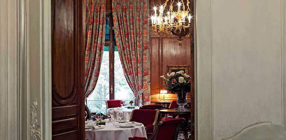 The dining room at Le Clarence restaurant