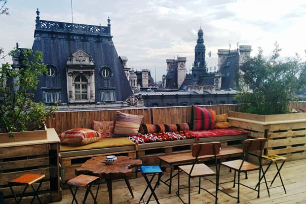 Le Perchoir rooftop bar in Paris
