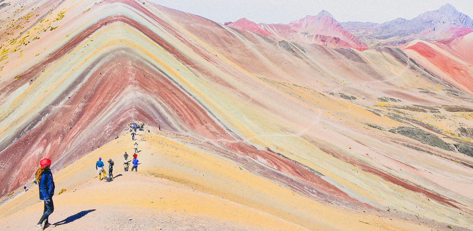 Climbing Rainbow Mountain in Cusco, Peru.