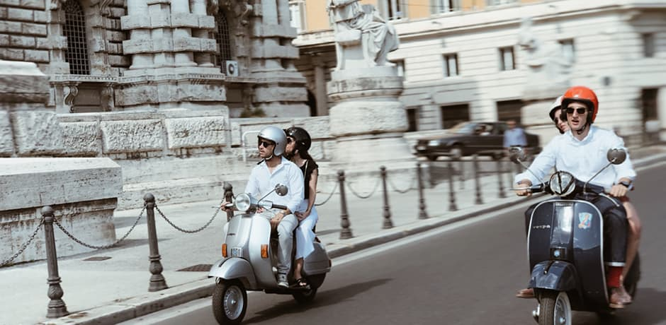 A Vespa tour on the Rome Insider Journey with Vogue in 2019