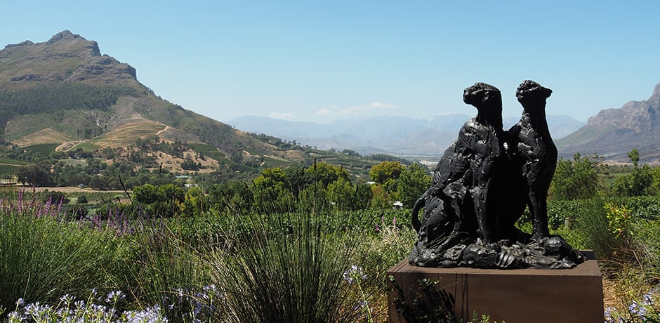 Visiting the art collection at Delaire Graff in Stellenbosch