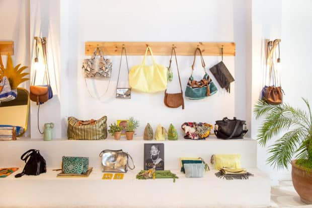 Display of purses at Lalla Boutiqe in Marrakech