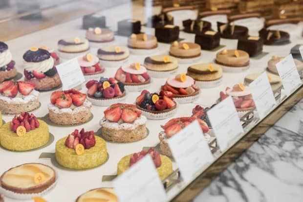 Sweets at Café Pierre Hermé at Beaupassage
