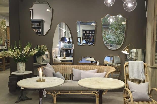 Wall with mirrors at Garbo Interiors