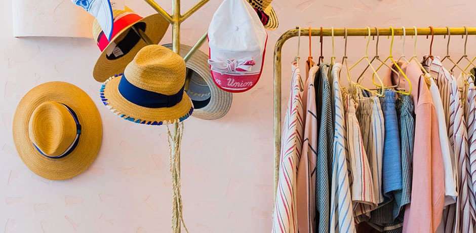 Hats and apparel at PLAYA by Lucy Folk. Photo by Nikki To.