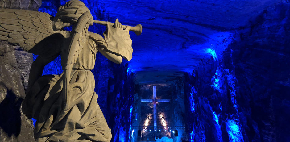 The Salt Cathedral in Zipaquira, the most visited tourist attraction in Colombia and the largest salt cathedral in the world, is an easy day trip from Bogotá.