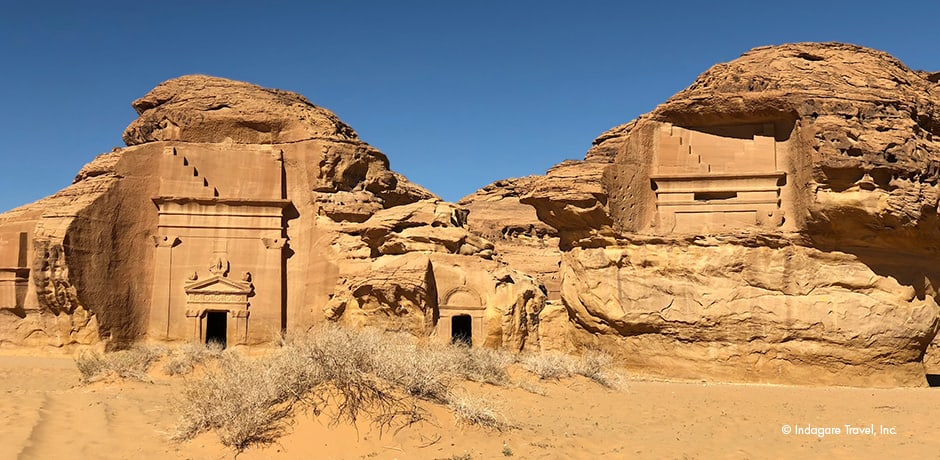 Tombs in the Al-Khuraymat area in Mada'in Saleh