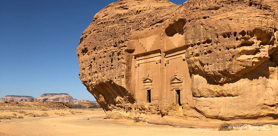 While less intricate than the tombs at Petra, which was the Nabatean capital, those at Mada'in Saleh are better preserved and more numerous.