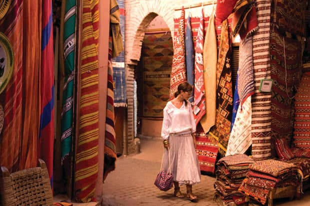 Marrakech souk, Courtesy Richard Waite