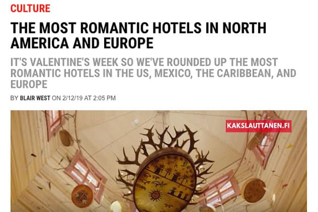 The Most Romantic Hotels in North America and Europe