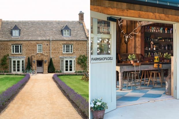 Soho Farmhouse exterior and interior in The Cotswolds, Britain