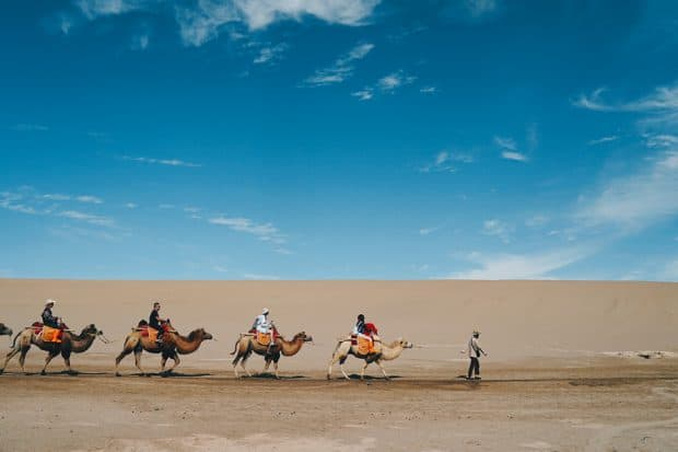 Remote locales like Dunhuang, China (above) are accessible to solo travelers with the proper preparation