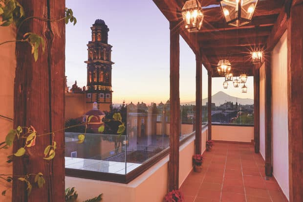 Sunset in Puebla, as seen from the Rosewood