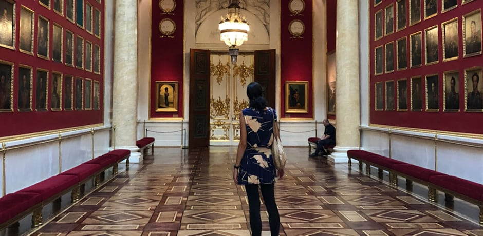 Indagare's Creative Director Simone Girner in the Hermitage