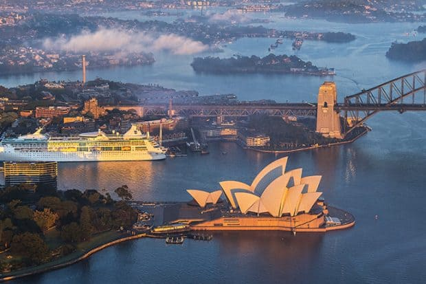Aerial view of Sydney Harbour, Sydney - Courtesy Visit NSW