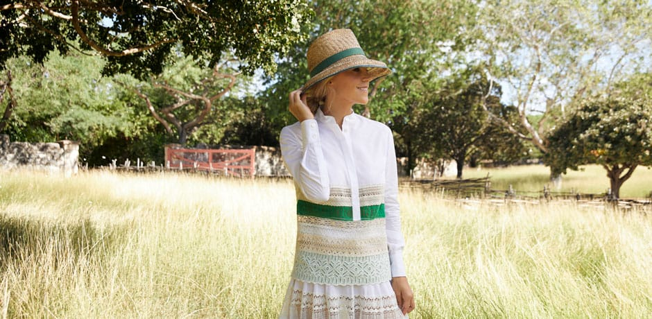 Tory Burch in Antigua, Courtesy Tory Burch, Photo by Noa Griffel