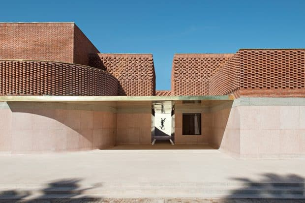 The Yves Saint Laurent Museum in Marrakech Morocco