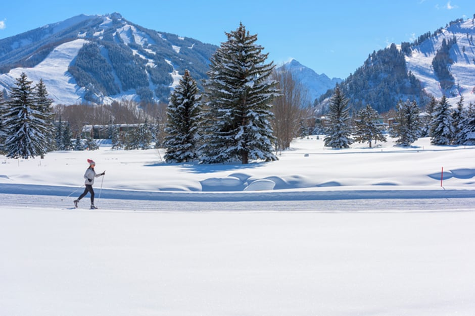 Mountain at Cross-Country Skiing, Aspen, American West - Courtesy Aspen Skiing Company