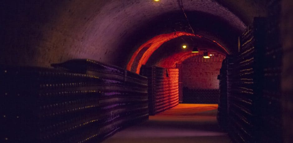 Cellars at Dom Perignon, Champagne, France; Courtesy Dom Perignon